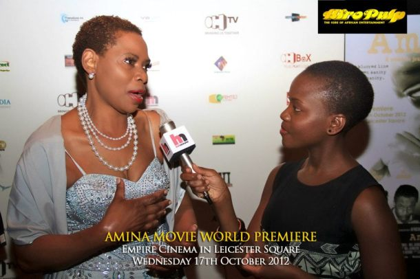 World Premiere of Amina Movie, Leicester Square, London