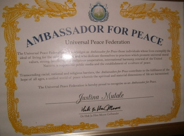 Ambassdor for Peace