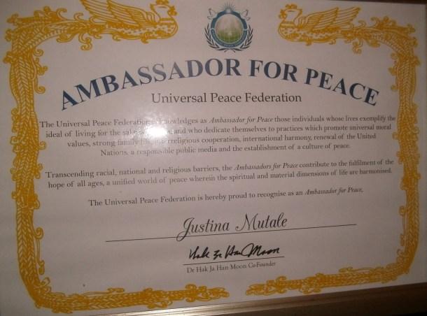 Ambassdor for Peace