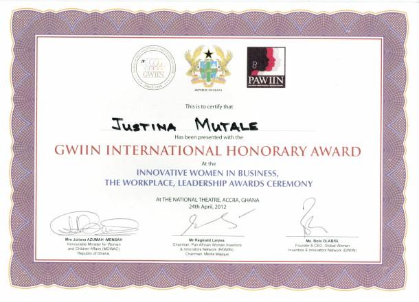 GWIIN Certificate