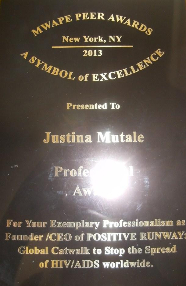 Mwape Peer Awards Plaque