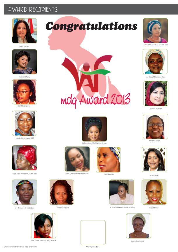 WAF MDG Award Recipents