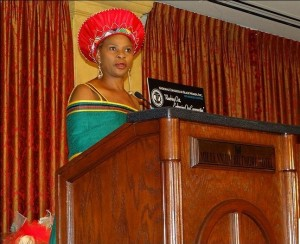 Addressing the U.S. National Congress of Black Women, Los Angeles, California