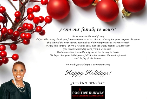 Season's Greetings from Justina Mutale.
